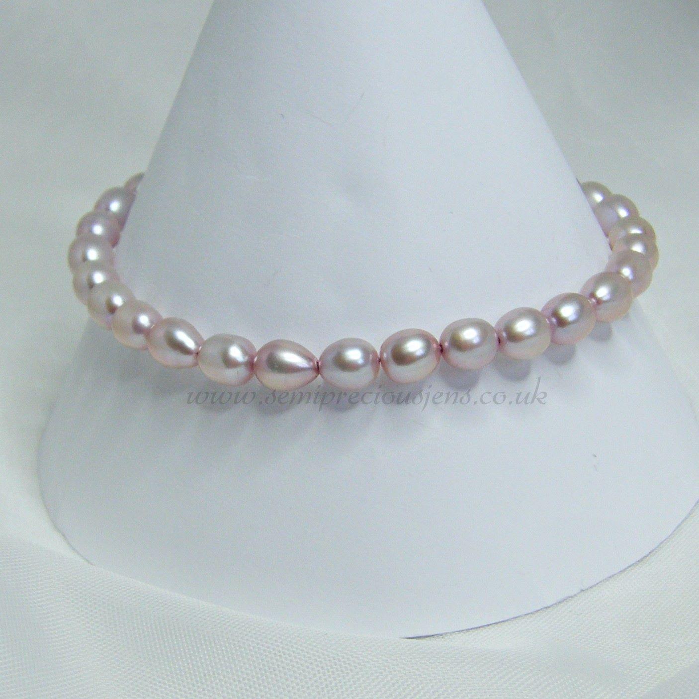 Pale Lilac Pearls Bracelet
