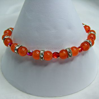 Orange Quartzite & Crystals