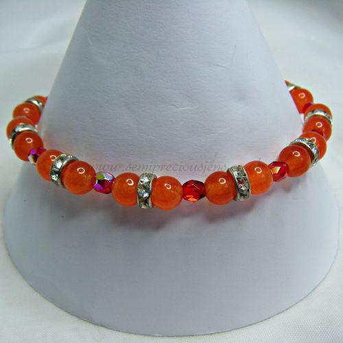 Orange Quartzite & Crystals