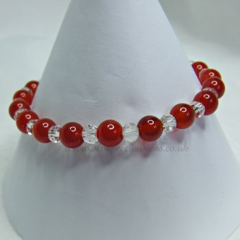 Carnelian and Faceted Glass