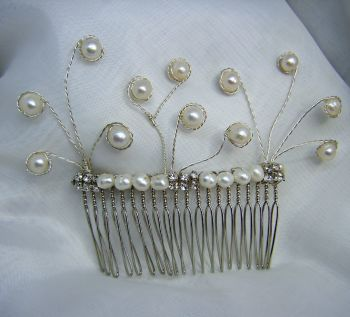 Freshwater Pearl Spiral Hair Comb