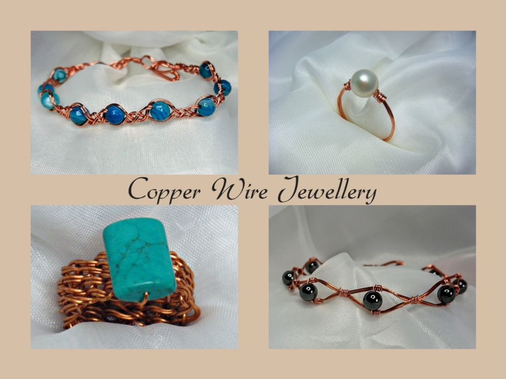 Copper Wire Wrapped Gemstone Jewellery