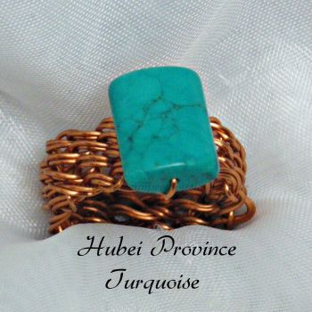 Huber Province Turquoise Copper Wire Ring