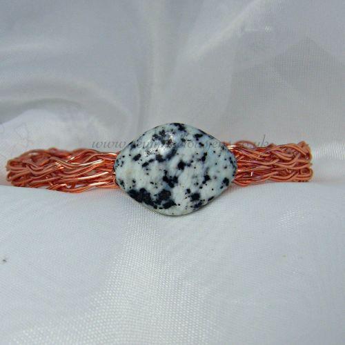 Pistachio Turquoise Copper Wire Bangle