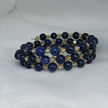 Lapis Lazuli Memory Wire Bracelet