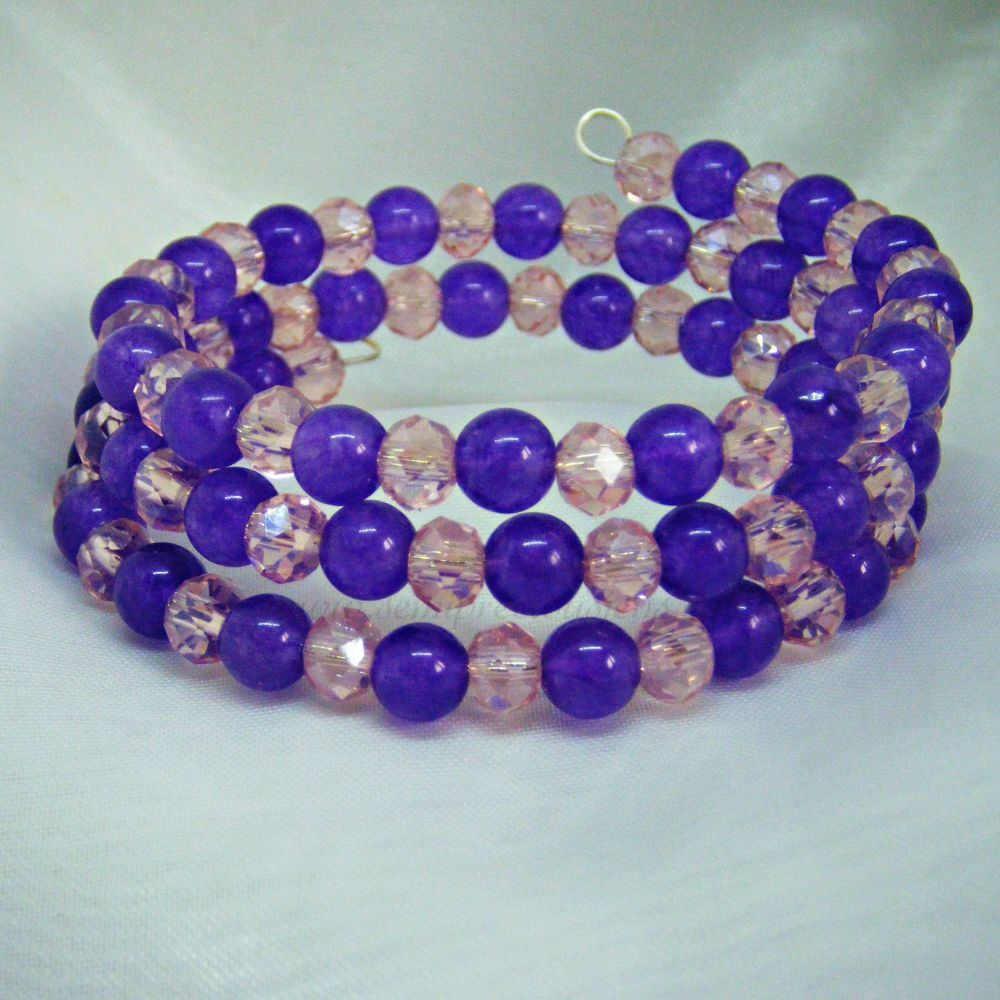Amethyst Quartzite Wrap Around Bracelet