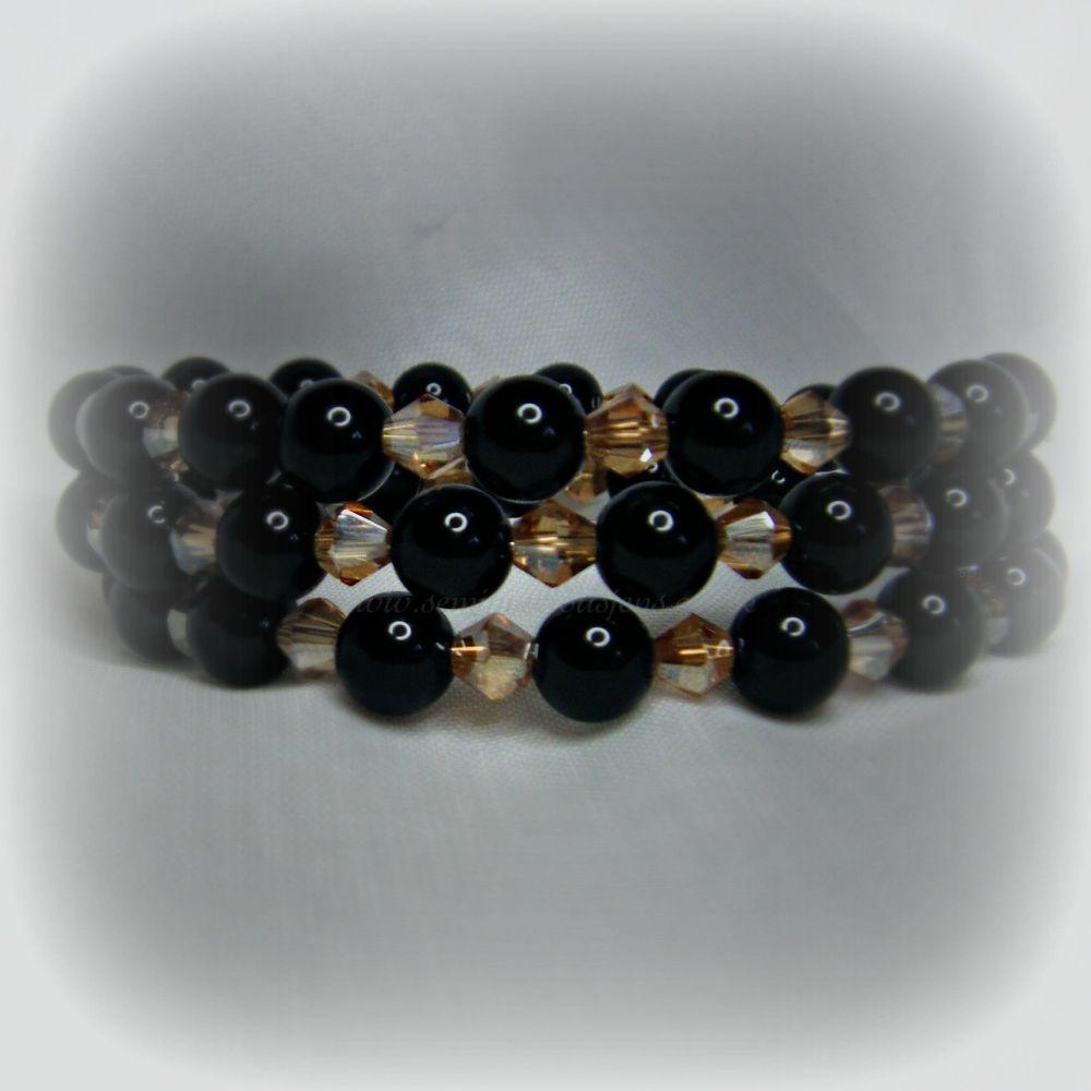 Black Onyx Wrap Around Bracelet