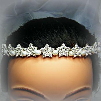 "Freshwater Pearls & ""Diamante"" Tiara"