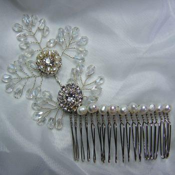 Pearl & Sparkle Hair Comb