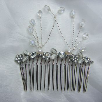 Diamante Flower Hair Comb