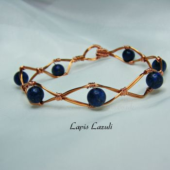 Copper Wire Bracelets with Semi Precious Gemstones 2