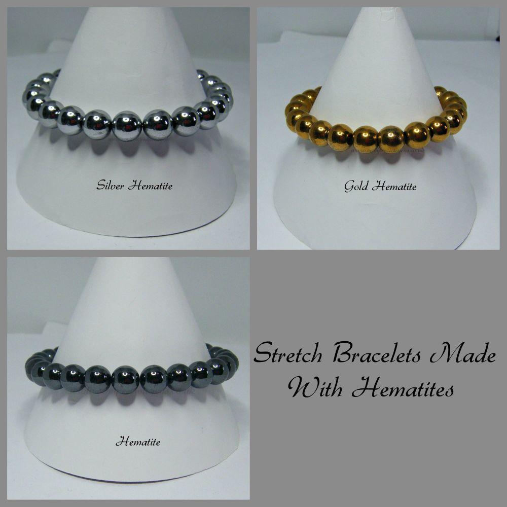 Hematite Strecth Elastic Bracelets