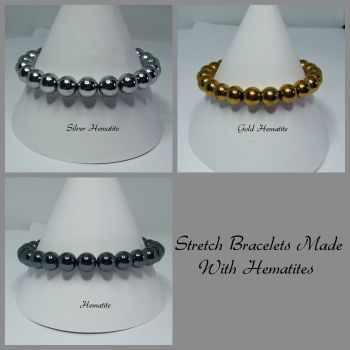 Hematite Stretch Elastic Bracelets