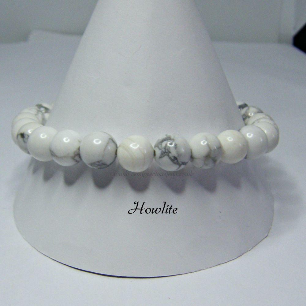 Howlite Stretch Elastic Bracelet
