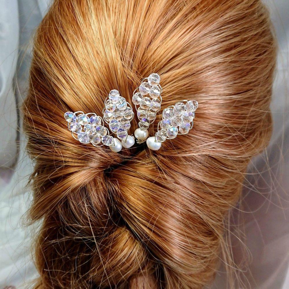 Crystal & Pearl Hair Pin Packs
