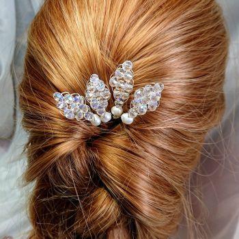 Crystal & Pearl Hair Pin Packs x 6