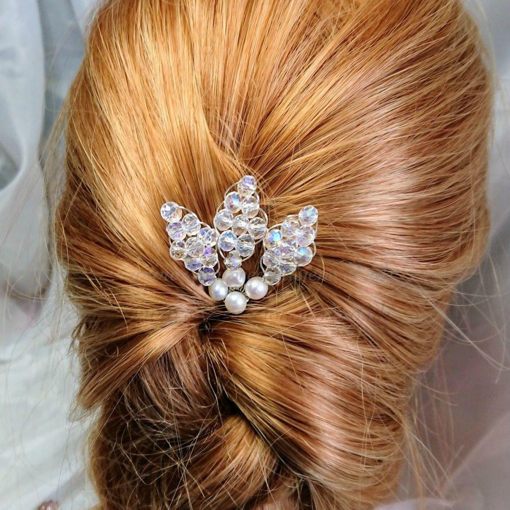 Crystal & Freshwater Pearl Hair Pin Pack
