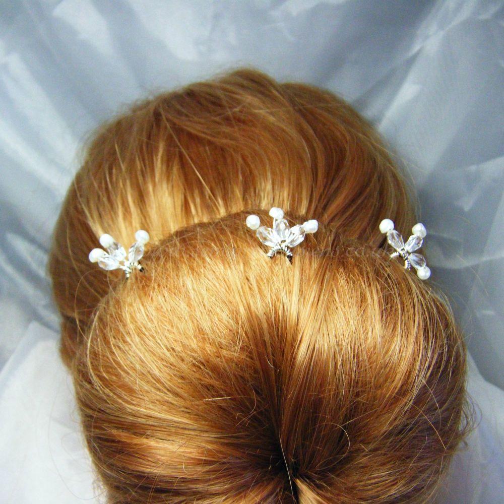 Pearl & Sparkle Hair Pins