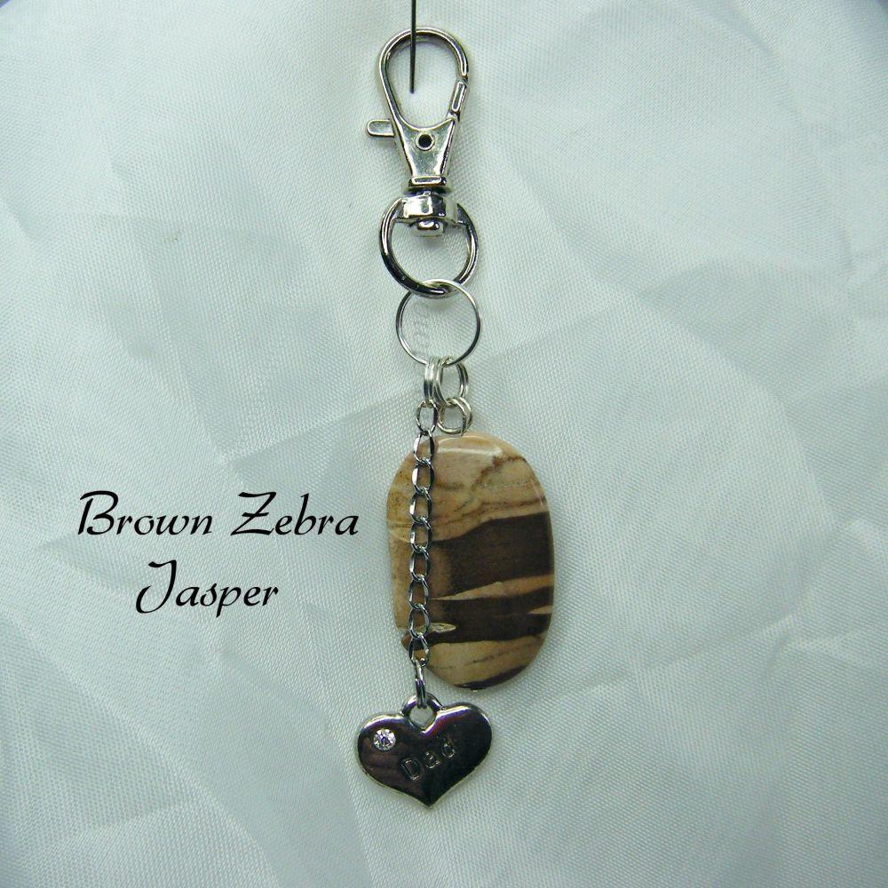 Brown Zebra Japer Keyring