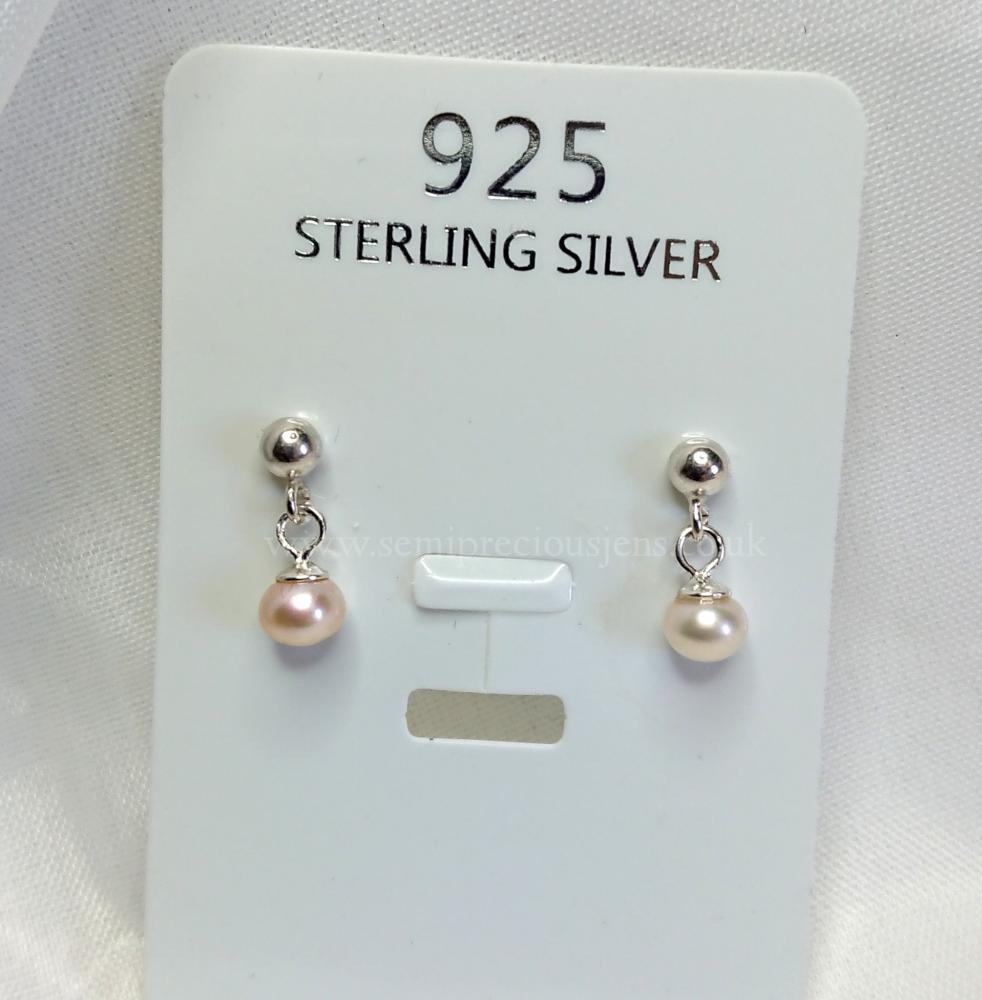 Pale Pink Freshwater Pearl  Earrings