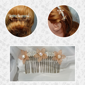 Freshwater Pearl Flower Hair Comb