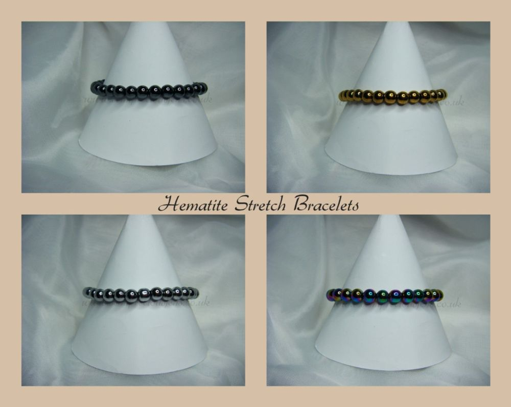 Hematite Stretch Bracelets