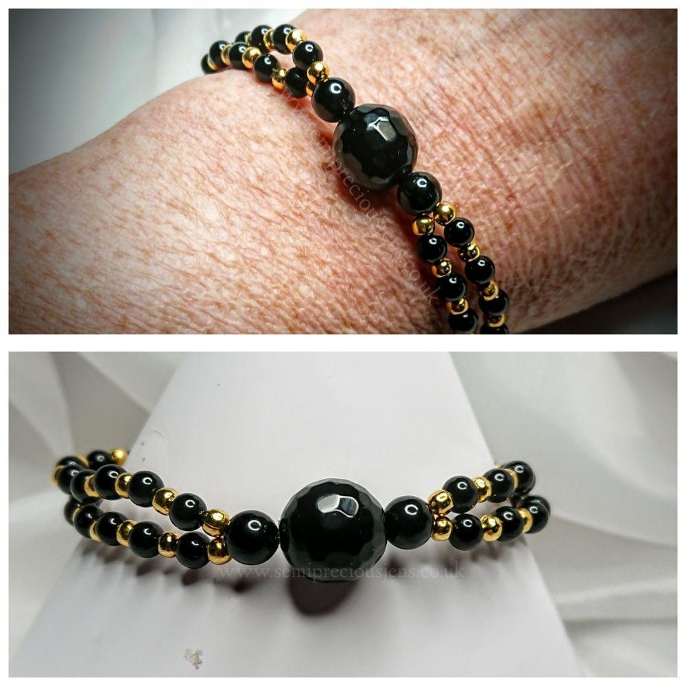 Black Onyx Stretch Bracelet