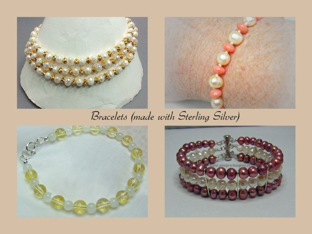 Bracelets Made with Sterling Silver Claps