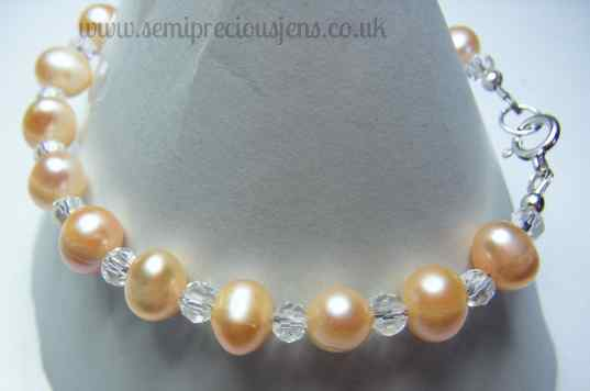 Peach Pearls and Glass Beads