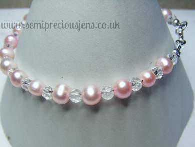 Pink Pearls and Glass Bicones