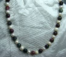 WPP-TO-N  White Pearls and Tourmaline