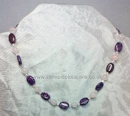 Lepidolite & Rose Quartz Necklace