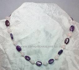 Lepidolite & Rose Quartz Necklace