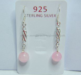 RQ-DE Rose Quartz Drop Earrings