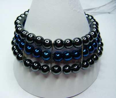 BH-H-3SB Assorted Hematite 3 Strand Bracelet