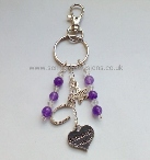 AM-CB-BM-BC  Amethyst Bridesmaid Keyring/Bag Charm