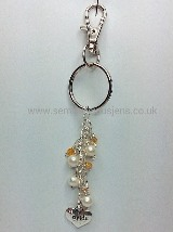 WP-GB-BKR  White Pearl Bride Keyring