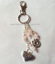 Rose Quartz Bride Keyring/Bag Charm