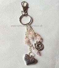 Rose Quartz Bride Keyring/Bag Charm