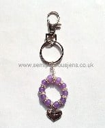 Lavender Quartzite Bridesmaid Keyring