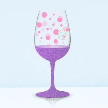 Bauble Wine Glass Decals Daisy Kay Creations UK Supplier For - Vinyl decals for wine glasses uk