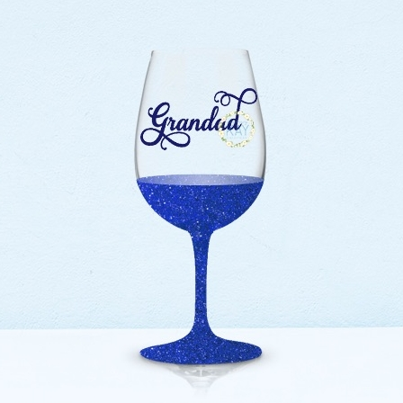 Set of 6 grandad vinyl stickers bauble wine glass decals v37