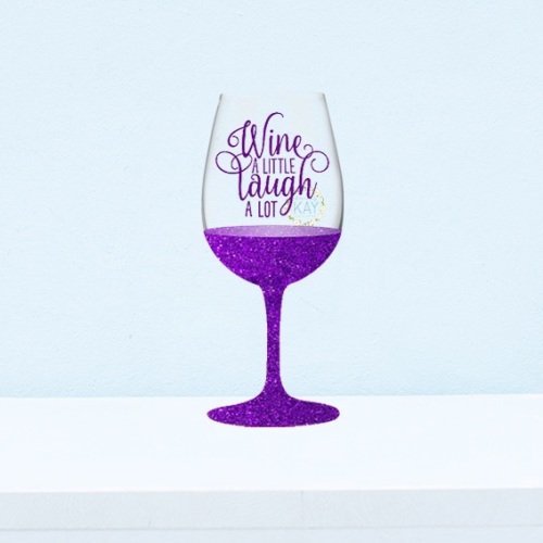 6 x wine a little laugh a lot wine glass decals vinyl stickers v125