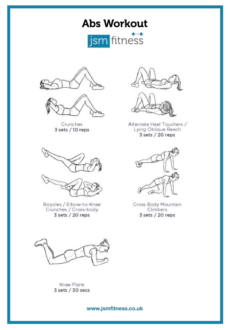 Abs Workout - JSM fitness  -  Personal Trainer