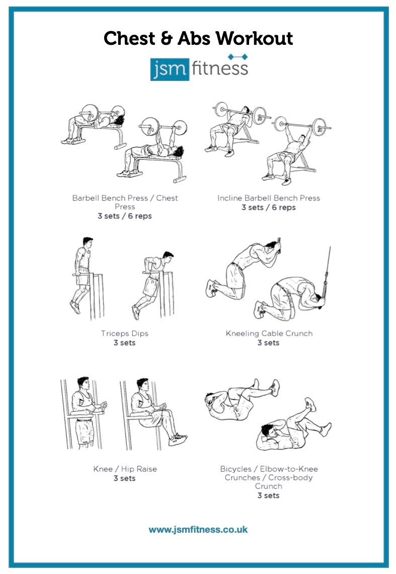 Chest & Abs - JSM Fitness