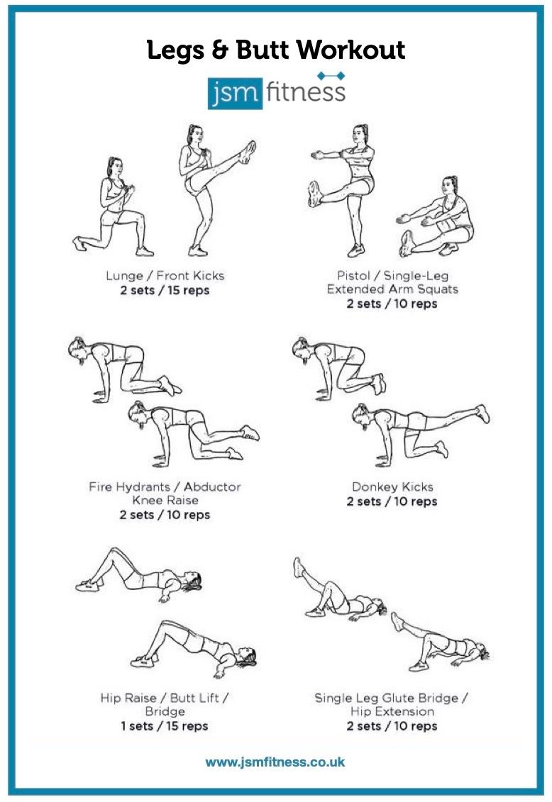 Legs & Butt - JSM fitness  -  Personal Trainer