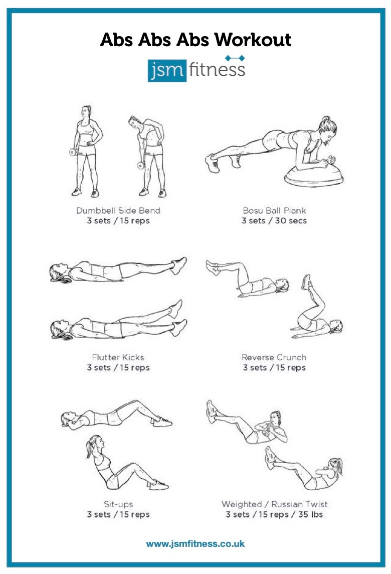 Abs Abs Abs - JSM fitness  -  Personal Trainer