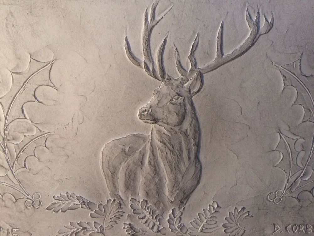 Stunning stag wall ornament