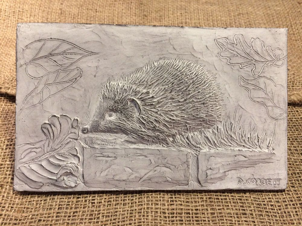 Hedgehog Sculpture, Composite Stone