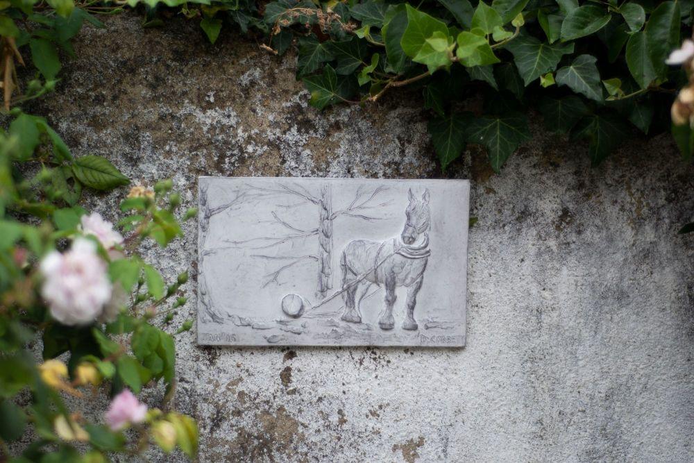 Shire Horse, Cast Stone